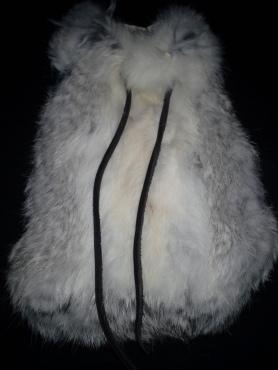 Rabbit fur 'medicine' style bag