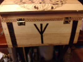 Pyrography Project: Treasure Chest